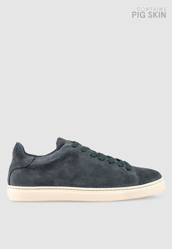 Selected Homme navy David Suede Trainers 91DFBSH7676450GS_1