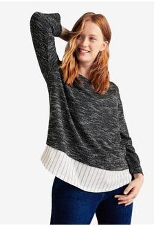 TOPSHOP Petite Ribbed Cropped Jumper RM 209.00 · Plus Size Shirt Hem  Textured Sweatshirt Violeta by MANGO ... 58270e057