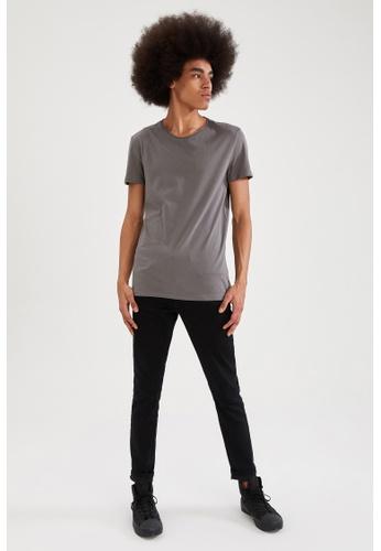 DeFacto grey Short Sleeve Round Neck Cotton Basic T-Shirt 53245AA5298985GS_1