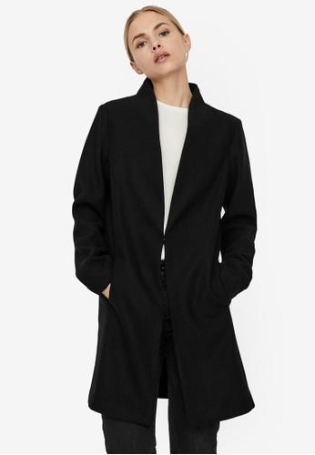 Vero Moda black Dafnemie Coat 934E7AAC3877F8GS_1