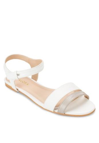 基本款雙帶繞踝平底涼鞋、 女鞋、 鞋ZALORA基本款雙帶繞踝平底涼鞋最新折價