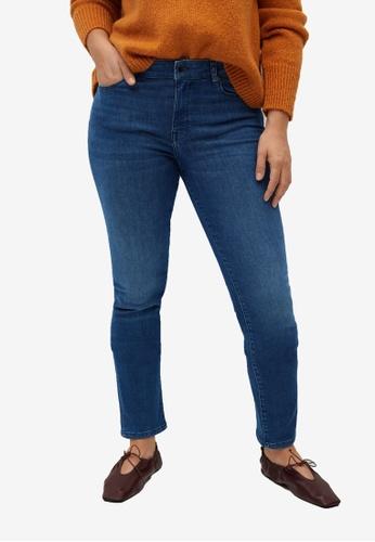 Violeta by MANGO blue Plus Size Slim-Fit Valentin Jeans B6691AAC590676GS_1
