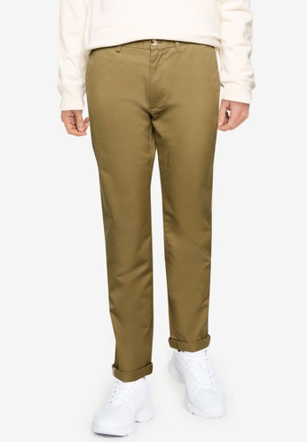 Ben Sherman green Signature Slim Stretch Chino Trousers 87951AA7A97577GS_1