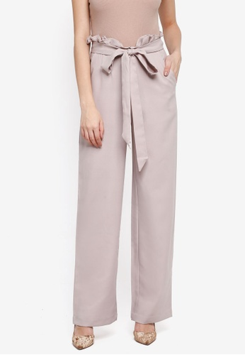 Lubna beige Paperbag Trousers 7331FAA76C7305GS_1