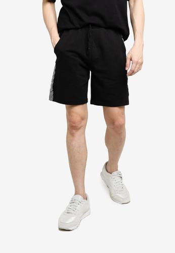 KOTON black Checkerboard Shorts 914ADAAFCFAFFBGS_1