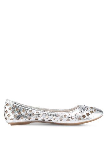 Carlton London 銀色 蝴蝶結平底鞋 A86B2SHE8D8100GS_1
