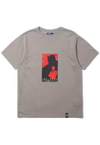 BLOCKAIT grey X Batman silhouette tee DA8D2AA81F3666GS_1