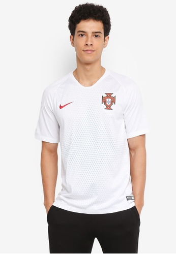 Nike white and red Men's Nike Breathe FFF Away Stadium Jersey A7615AA69F245EGS_1