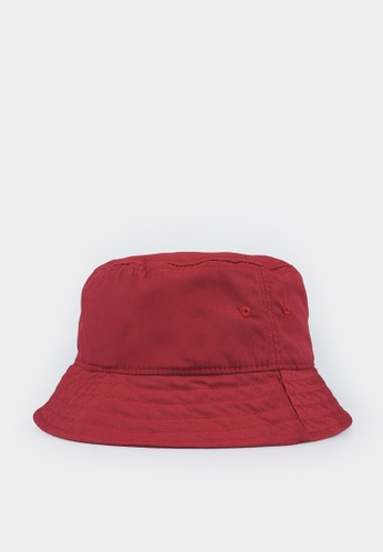 Penshoppe red Twill Bucket Hat 20051AC60C5751GS_1