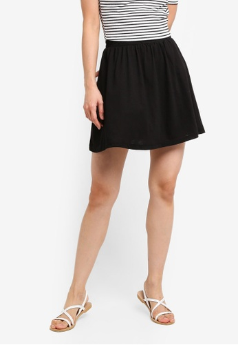 ZALORA BASICS black Basic Jersey Skater Skirt 01052AA15759B6GS_1