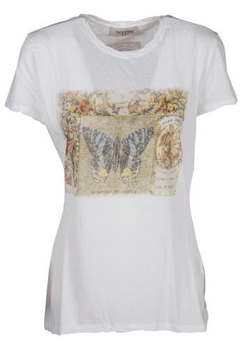 Valentino white Valentino Cigar Box T-Shirt in White DD539AA60D038DGS_1