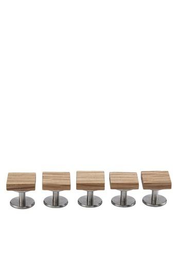 木製鈕扣組合, 飾品配esprit分店件, 首飾