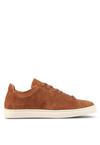 Selected Homme brown Shndavid Suede Sneakers 9C8BDSH5BE14C7GS_1
