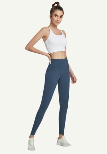 B-Code navy ZWG7006Lady Quick Drying Running Fitness Yoga Sports Leggings -Navy EBE4DAA2A273E6GS_1