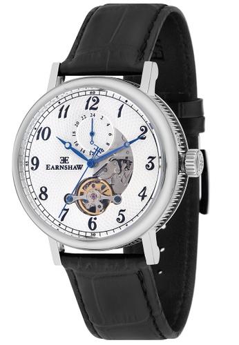Thomas Earnshaw black Thomas Earnshaw Men's Genuine Leather Strap Watch - ES-8082-01 7985DAC645BDCDGS_1