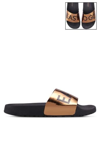 Vero Moda gold Letter Sandals BC665SH75DE9C5GS_1