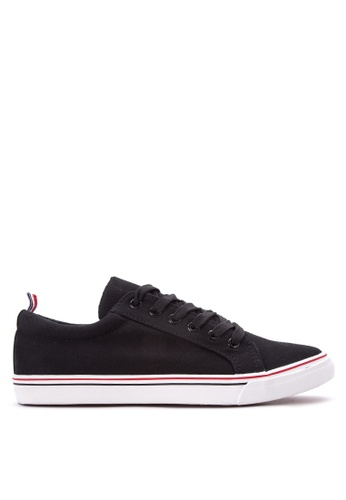 Wade black Lace up Sneakers WA436SH08LQTPH_1