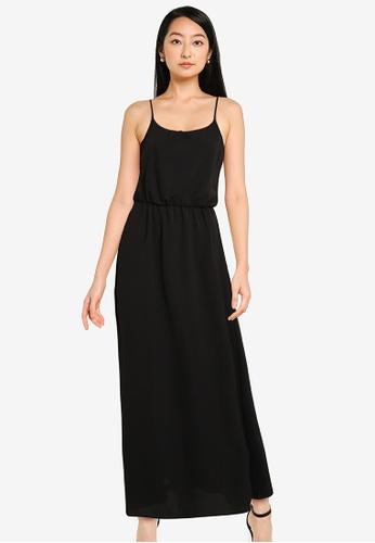 ONLY black Nova Lux Strap Maxi Dress 4AFEDAAC201A2FGS_1