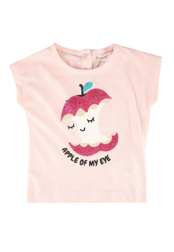 FOX Kids & Baby pink Baby Girls Graphic Print Tee DB193KA0D496D5GS_1