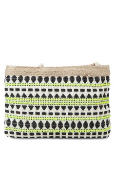 Jacquard Cotton Cosmetic Bag