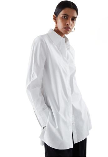 Cos white Long Shirt 0EFA5AA45BF394GS_1