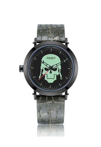 Assassin's Time green Assassin's Time SKULL FIGHTER Army Green Leather 835F0AC4F2C7A8GS_1