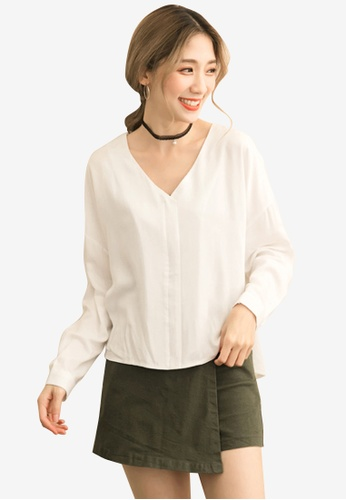 Sesura white Sultry Back Cotton Top 005A4AAB72D6D3GS_1