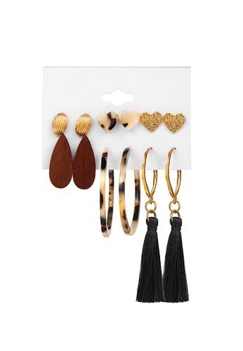 Glamorbit multi Multi Colour Statement Earrings Set 2DF62AC7B33148GS_1