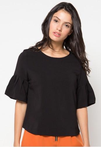 Raspberry black Cate Short Sleeve Blouse RA572AA47QZWID_1