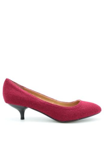 PRODUIT PARFAIT 紅色 雙色尖頭高踭鞋 105C6SH50D1659GS_1