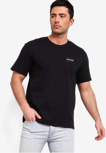 Calvin Klein 黑色 短袖印花T恤 DC001AA8C92531GS_1