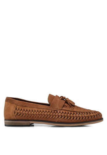River Island brown Tan Nubuck Huarrache Loafer FB7E1SHC235E97GS_1
