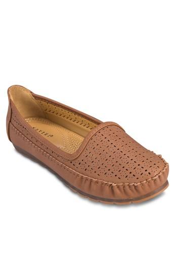 雕花平底懶人鞋, 女zalora 衣服評價鞋, 船型鞋