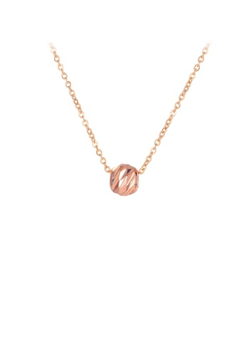 Glamorousky silver Fashion Simple Plated Rose Gold Geometric Ball 316L Stainless Steel Pendant with Necklace 6FAECACEF78BF2GS_1