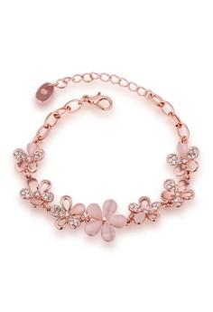 Marjorie Flower Chain 18K Rose Gold Plated Bracelet