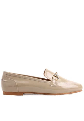 SPUR beige Ring Chain Loafer 907FESH9A3BAE3GS_1