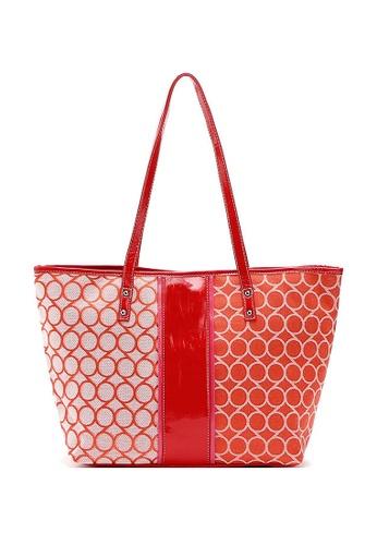 b8ddc0de98 LULUGIFT orange Vintage Style Retro Big Tote Bag design LU989AC68FLVMY_1