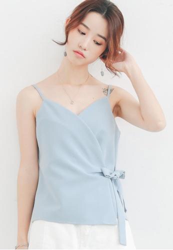 Shopsfashion blue Wrapped Cami in Blue SH656AA62LFLSG_1