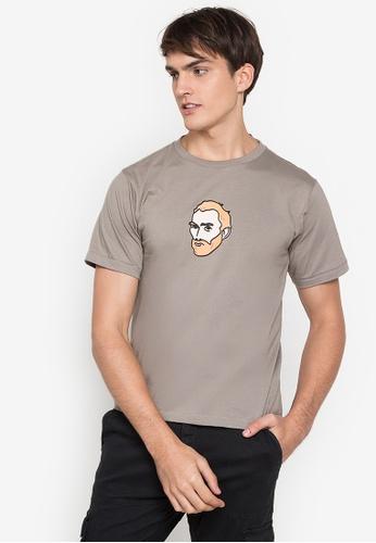 Artwork grey Go Van T-Shirt AC572AADFECB07GS_1