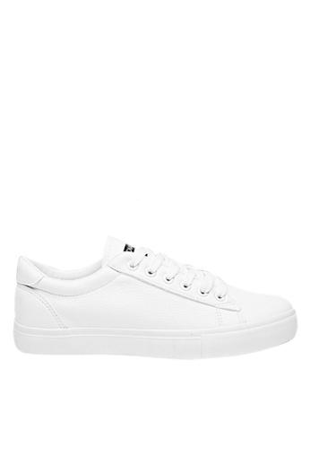 Twenty Eight Shoes 白色 男裝柔軟仿羊皮簡約波鞋MC023 93B40SH9DB8A3CGS_1