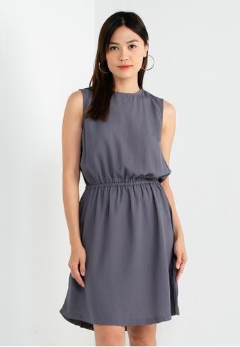 Berrybenka grey William Basic Dress 5AB64AA6F8B56BGS_1