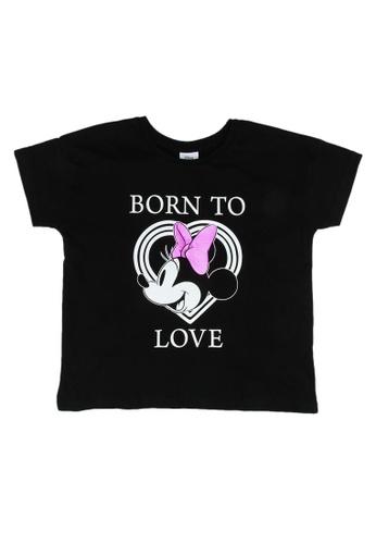 FOX Kids & Baby black Metallic Detail Disney Tee 11461KA9B1A814GS_1