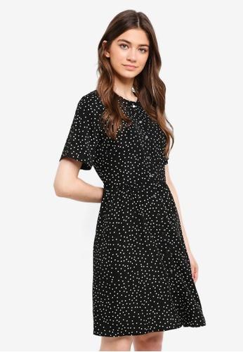 Something Borrowed black Buttoned Down Dress 95CFFAADA1FF5DGS_1