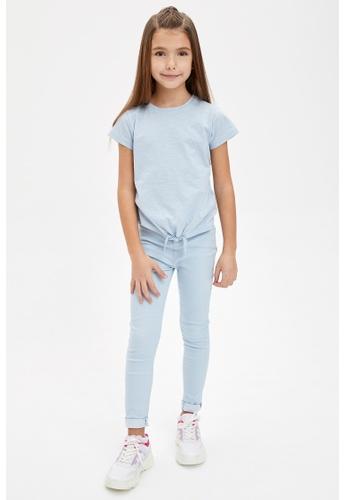 DeFacto blue Girl Woven Bottom Trousers 8D02CKA6D7ECB9GS_1