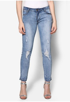 Skinny Dull Washed Jeans