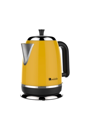 Odette white and orange and yellow Odette Streamline Series 1.7L Stainless Steel Electric Kettle 2B33EHLE0B3E43GS_1
