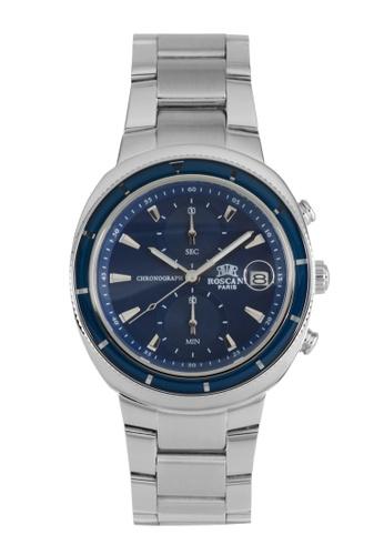 Roscani silver Roscani Oscar 971 (Ceramic Bezel + WR 5ATM) Stainless Steel Blue Bracelet Men Watch 0B4D2ACFA5795CGS_1