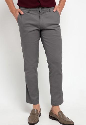 Gianni Visentin grey Celana Panjang Chinos Cotton Stretch Slim Fit FBDECAAC89AC84GS_1