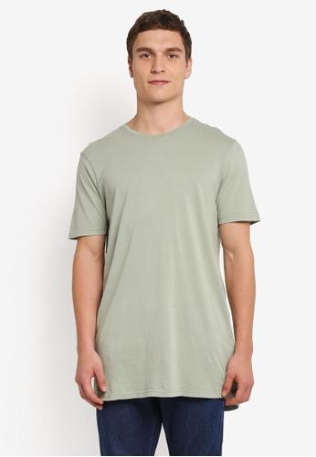 Cotton On green Longline Scoop Hem Tee CO372AA0SJTZMY_1