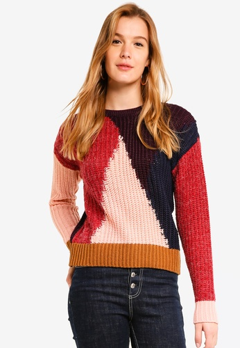 ICHI brown Irene Pullover 59A39AAD9791D8GS_1